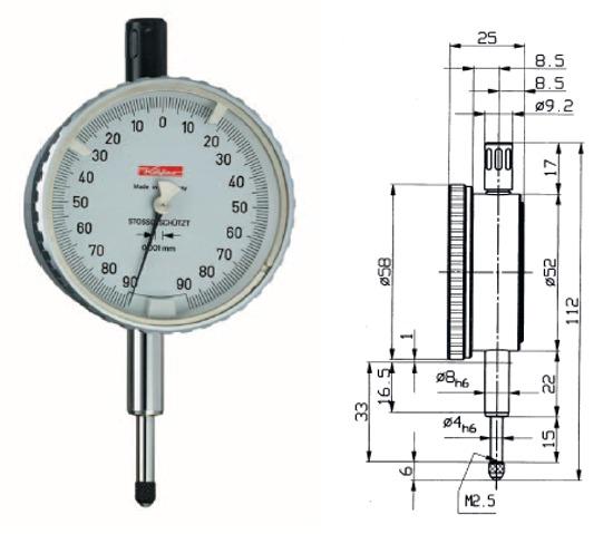 Sicherheitsmessuhr Feinika SI-918 0 - 0,16 mm