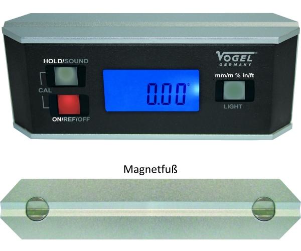 Digitales Neigungsmessgerät IP65, mit Magnetfuß 0° - 360°