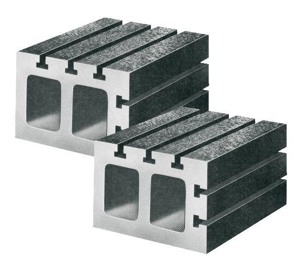 Parallelkasten Paar mit T-Nuten Güte 0 150 x 150 x 100 mm