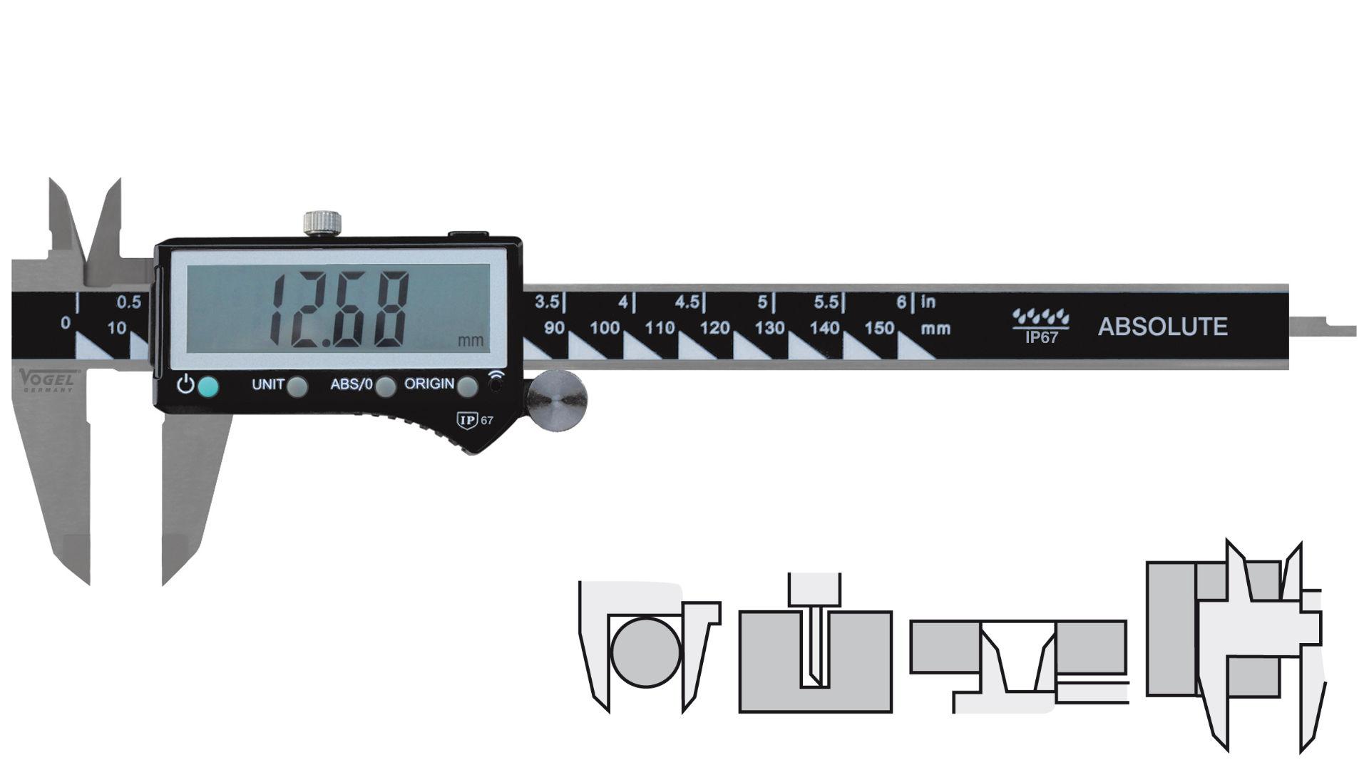 Digitaler Messschieber professional IP67 - Bluetooth®