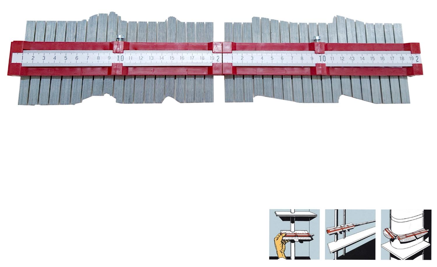 Konturenlehre - Profilabtaster 400 mm lang