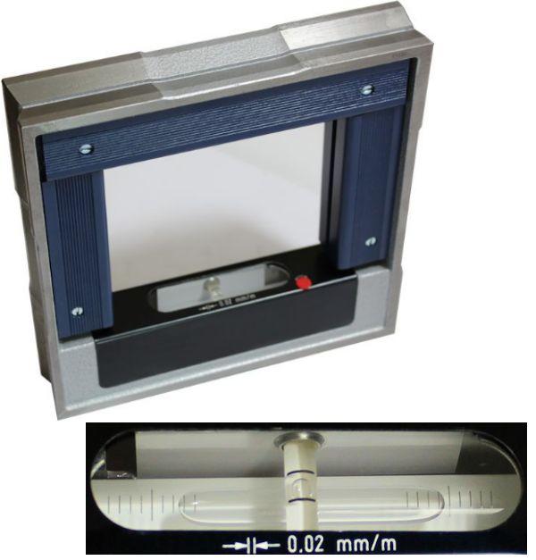 Rahmenrichtwaage, Rahmen-Wasserwaage 200 x 200 mm