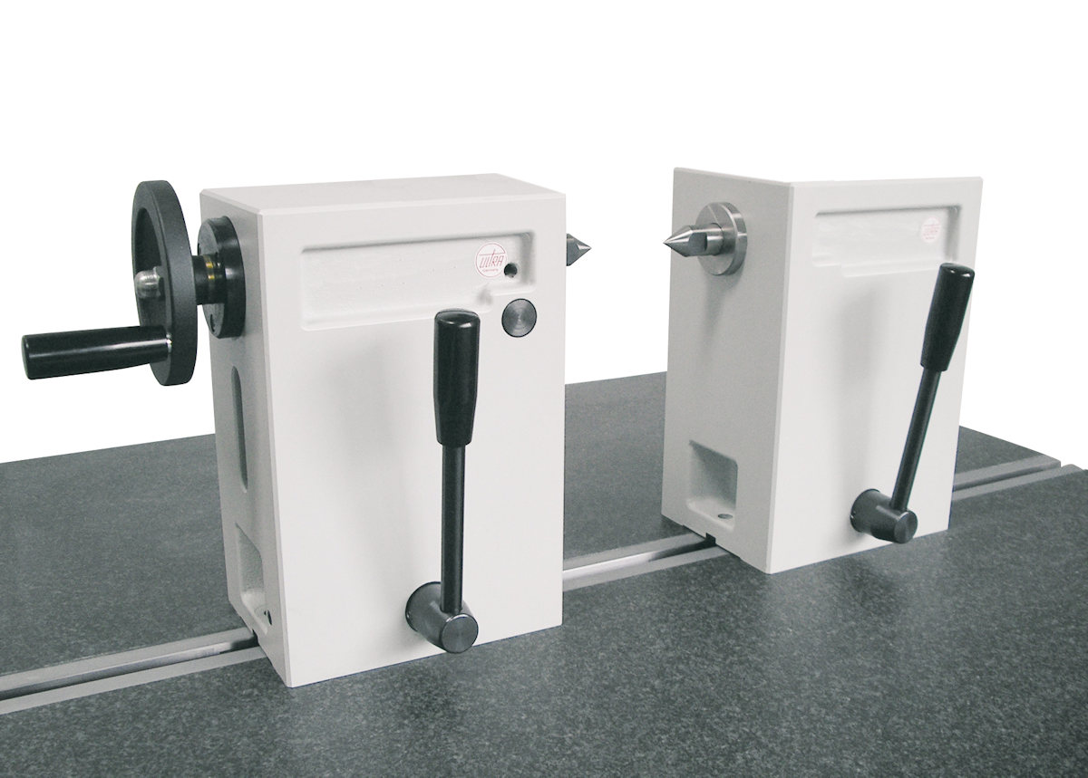 Reitstöcke-Paar aus Spezialguss mit Handrad H = 100 mm