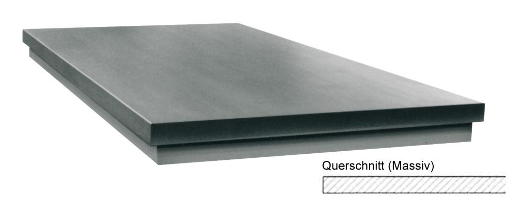 Richtplatte, massive Ausführung 200mm x 200mm x 40mm