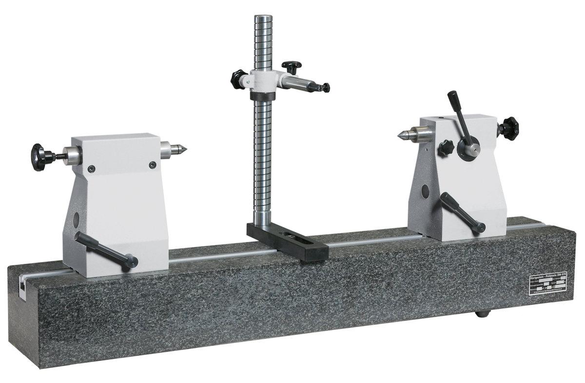 Rundlaufprüfgerät mit Hartgestein-Messbank 200mm x 650mm