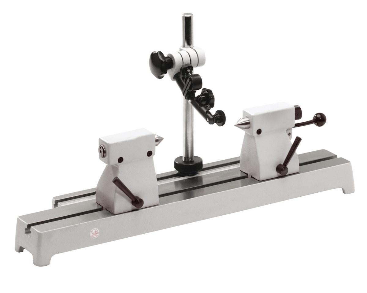 Rundlaufprüfgerät mit Stahl-Messbank 50mm x 200mm