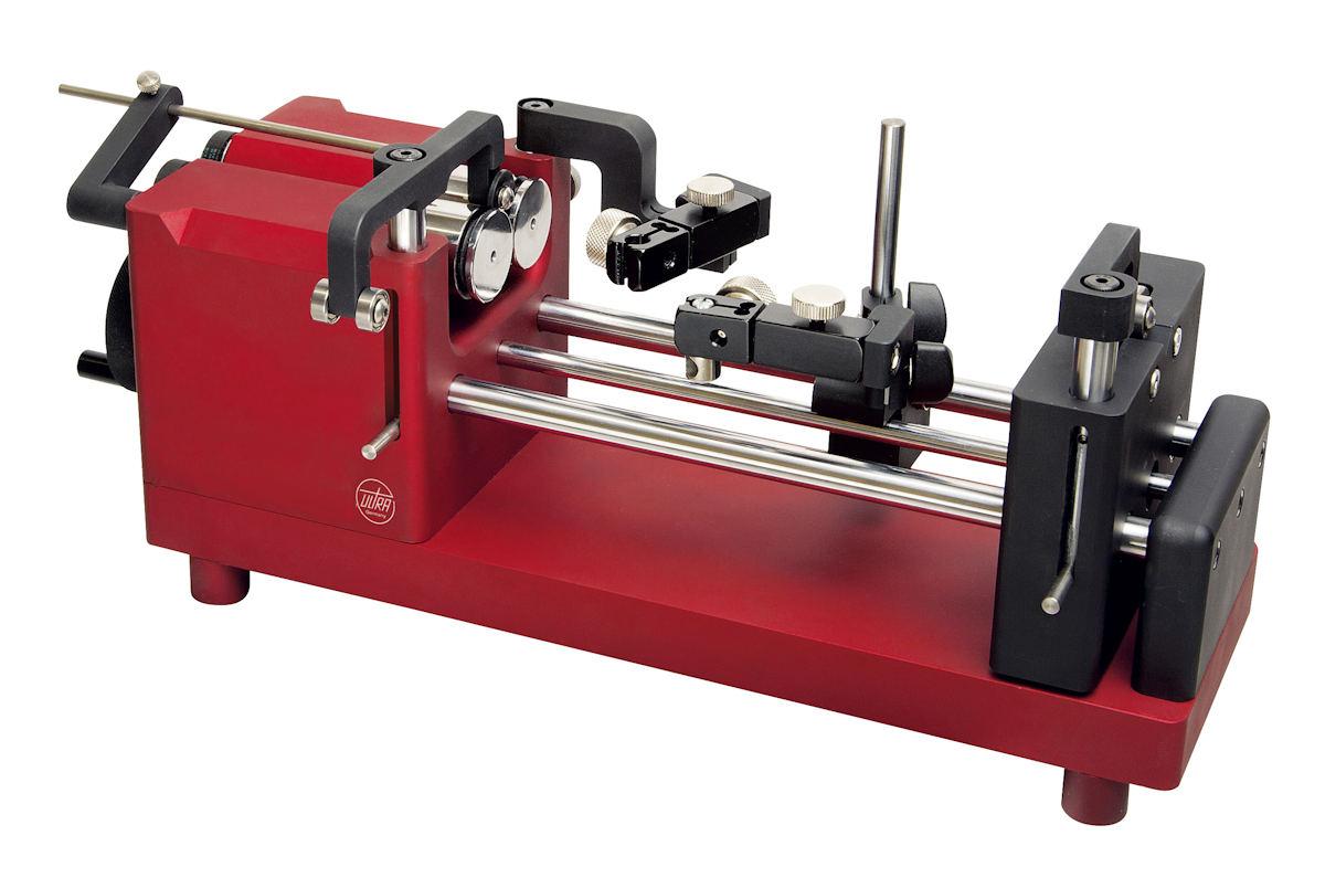 Rundlaufprüfgerät UNITEST m. verschiebbarem Rollenbock für Werkstücke Ø 1,5 mm - 50 mm