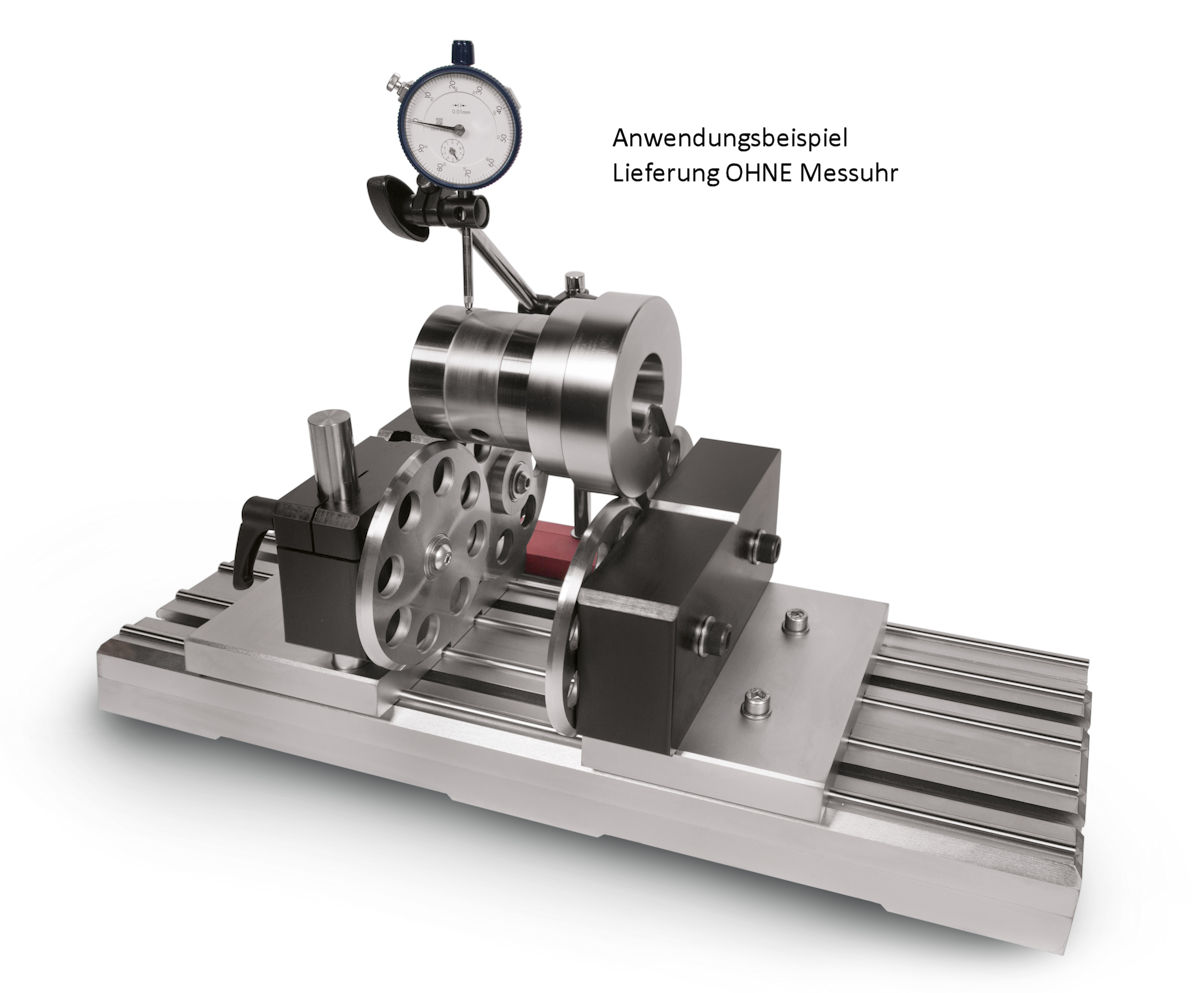 Rundlaufprüfgerät mit Abrollböcken für Ø 10 - 240 mm L = 540 mm