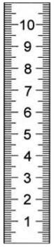Rostfreier Stahlmaßstab in Sonderausführung 300 x 18 x 0,5 mm