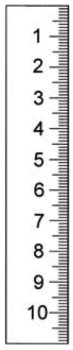 Rostfreier Stahlmaßstab in Sonderausführung 500 x 18 x 0,5 mm
