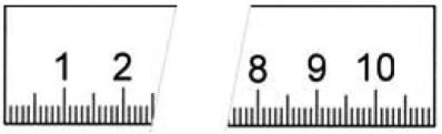 Rostfreier Stahlmaßstab in Sonderausführung 3500 x 18 x 0,5 mm