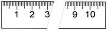 Rostfreier Stahlmaßstab in Sonderausführung 2000 x 18 x 0,5 mm