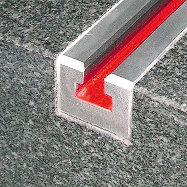 Spann-T-Nute für Messplatten aus Hartgestein 250 mm