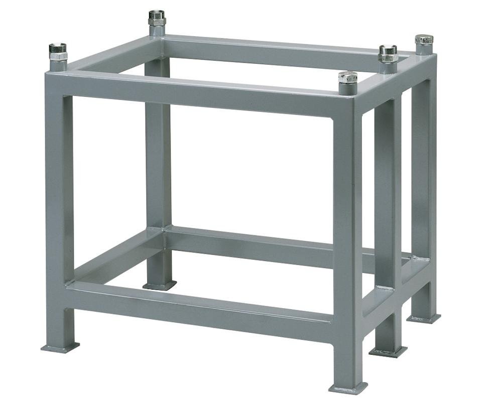 Untergestell für Messplatten aus Hartgestein in Größe 600 mm x 400 mm