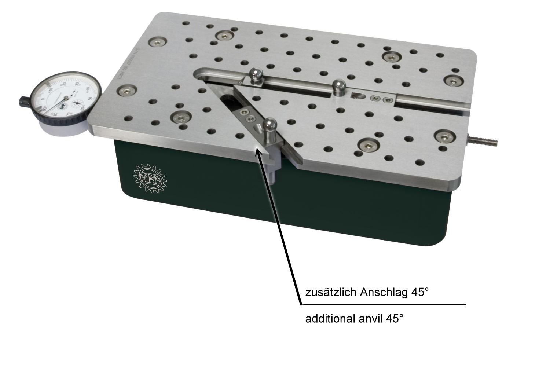 Universal Vergleichsmessgerät Quick Check Anschlag 20-200mm / 0-180mm / 45°