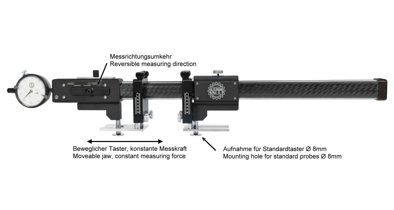 Universal Vergleichsmessgerät Carbon 400 mm