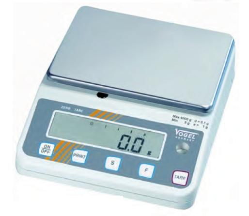 Elektr. Digital Gold- und Laborwaage, eichfähig bis 6,0 kg / 0,1 g