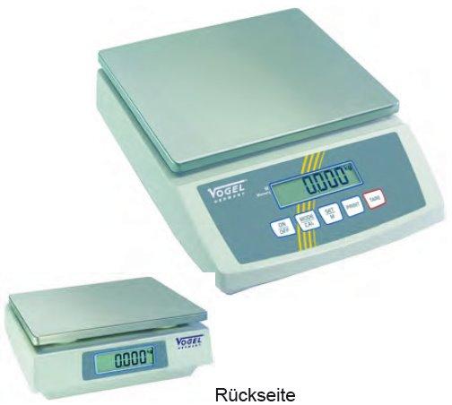 Elektr. Digital Kompaktwaage, RS 232 u. IP54 bis 12,0 Kg / 1,0 g
