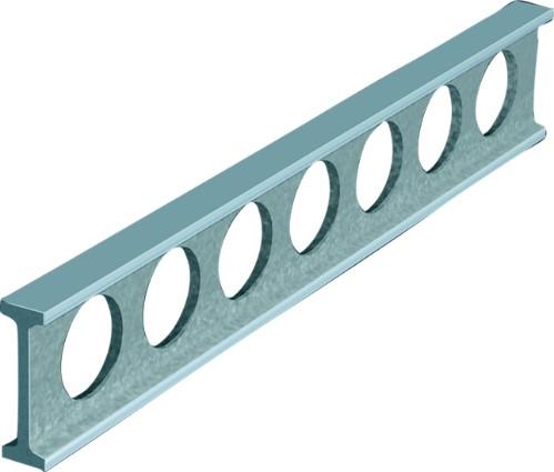 Montagelineal Aluminium Doppel-T-förmig DIN 874/0 1000 mm