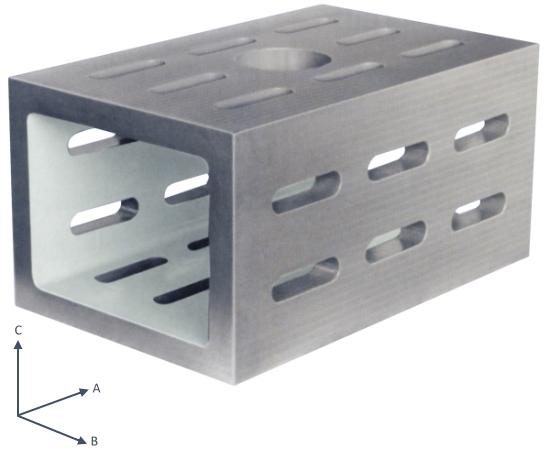 Kastenwürfel aus Spezialguss Güte 1 250x150x100 mm