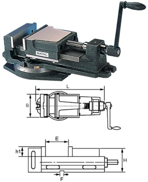 Standard Bohr- und Fräsmaschinen - Schraubstock 267 x 100 x 75