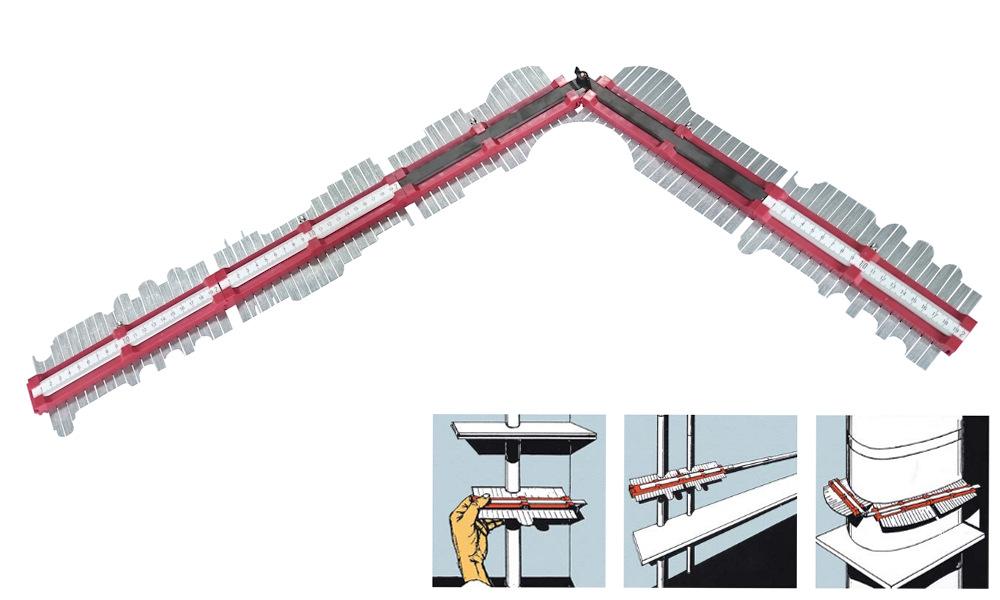 Konturenlehre - Profilabtaster 1000 mm lang